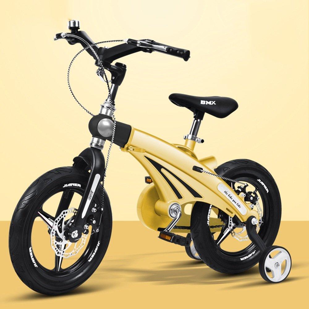 HAIZHEN マウンテンバイク 子供の自転車の男の子のベビー自転車2歳から9歳のベビーキャリッジ12/14/16インチキッズバイクの自転車の長さのハンドルバーの座席 新生児 B07C3Z97XV 14 inch|イエロー いえろ゜ イエロー いえろ゜ 14 inch