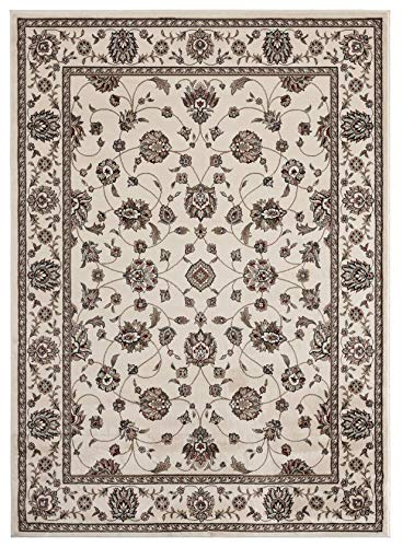 Antique Collection Cream - Antique Collection Vintage Oriental Area Rug, 5' 2