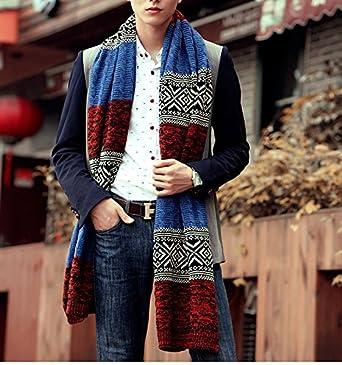 Bufanda de Hombre la tela escocesa cozy Lana Abrigo Del Mant/ón cuello bufanda Regalos para Hombre unisexo