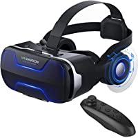 VR Headset, 3D Virtual Reality Glasses VR Headset Helmet Goggles for Movies Gamming Compatible with iPhone, Samsung and…
