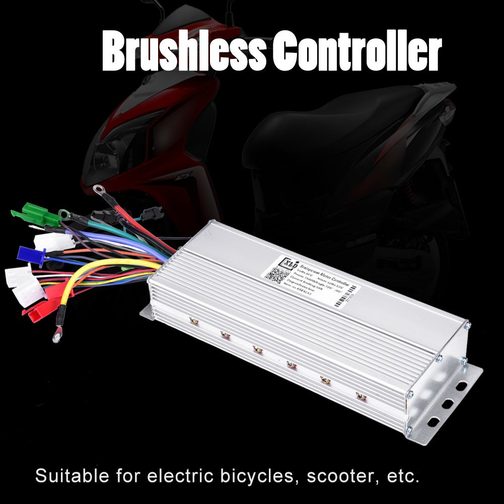 Brushless Motor Controller, 60V 1500W Brushless Scooter E-bike Controller Bike Accessory by Alomejor (Image #8)