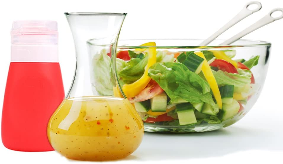 Mini Botella de Salsa exprimible frascos de Salsa de aderezo de Ensalada de Silicona para Salsa de Tomate Verde