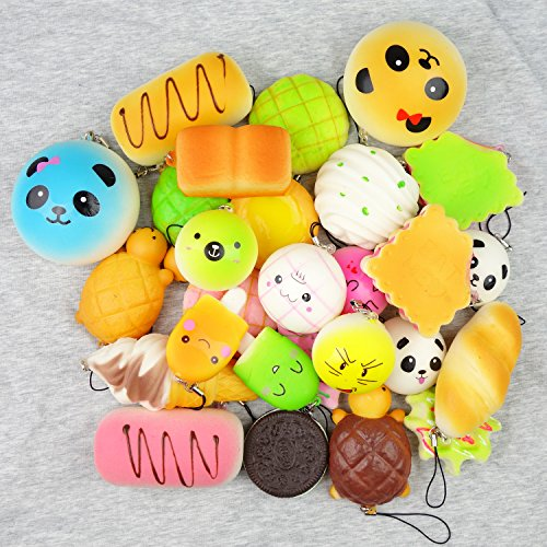 Squishy Toys Pack : Random 10 Pack Squishies Squishy Toys Charms Cell Gift Phone Chain Phone eBay