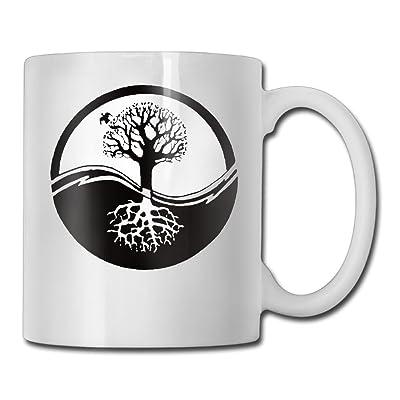 Bonsai Tree Circle Root Fashion Coffee Cup Porcelain Mugs: Home & Kitchen