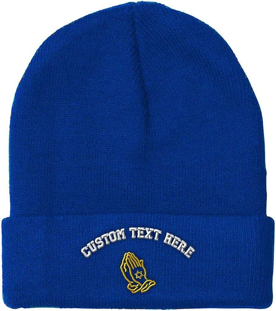 Custom Beanie for Men /& Women Jewish Hands Praying A Embroidery Skull Cap Hat