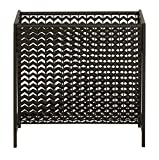 Benzara Deco 79 Modern Black Chevron-Patterned Metal Magazine Rack, 17 x 16-Inch