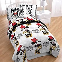 Disney Minnie Mouse Girls 5 Piece Twin Comforter Bedding Set with Tote Bag