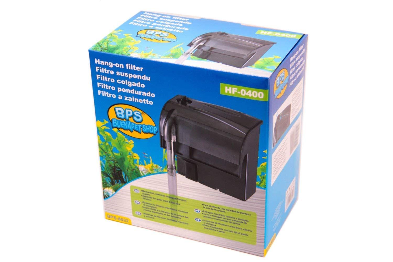 BPS Filtro Profesional Acuario,Filtro Externo de Mochila para Pecera,Ahorro de Energía.(4.4W,350L/H)BPS-6022: Amazon.es: Productos para mascotas