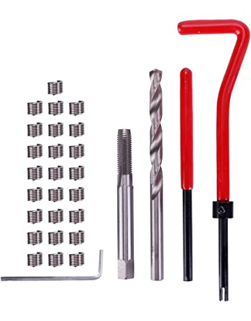 Teabelle 30 piezas M6 rosca métrica reparación insertar bobina Helicoil para Kit de reparación de automoción