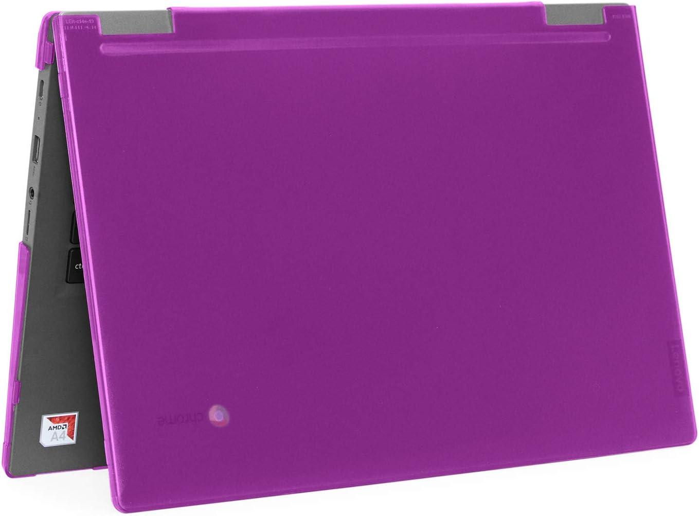 """mCover Hard Shell Case for 2019 14"""" Lenovo 14e Series Chromebook Laptop (NOT Fitting Older 14"""" Lenovo N42 / S330 and 11.6"""" N22 / N23 / N24, etc Chromebook) (LEN-C14e Purple)"""