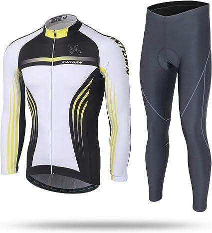 Camisetas de ciclismo para hombre manga larga ropa deportiva de oto/ño para bicicleta transpirable MTB