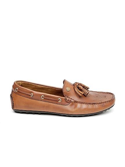 6f2034f62fc7 Tommy Hilfiger Men Brown Solid Leather Tassel Loafers (10)  Buy ...