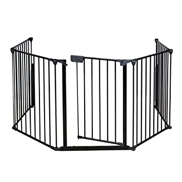 amazon com 25 x 30 fireplace safety fence baby protect guard rh amazon com Fireplace Safety Gate Gates for around Fireplaces