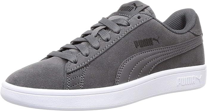 Puma Smash V2 Sneakers Unisex Damen Herren Grau/Weiß