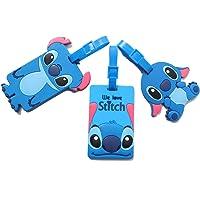 Set of 3 - Super Cute Kawaii Cartoon Silicone Travel Luggage ID Tag for Bags