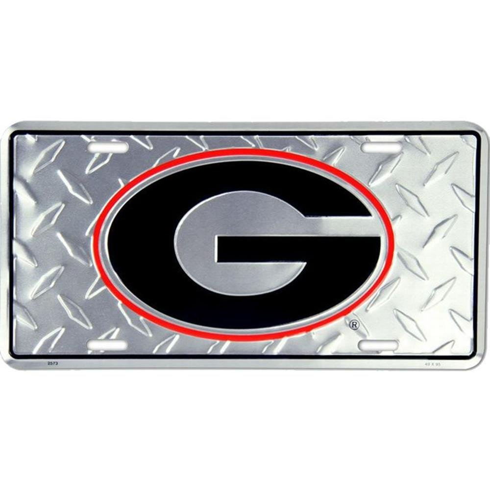 Signs 4 Fun SL2573 Georgia Bulldogs Diamond License Plate