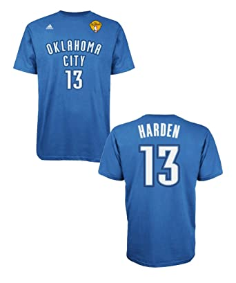 5cf1b179c89 ... official james harden oklahoma city thunder 2012 nba finals jersey name  and number t shirt large