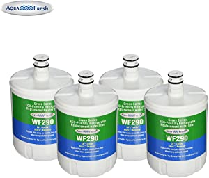 Aqua Fresh WF290 Refrigerator Water Filter Compatible with LG LT500P, Kenmore 46-9890, Water Sentinel WSL-1 Water Filter (4 Pack)