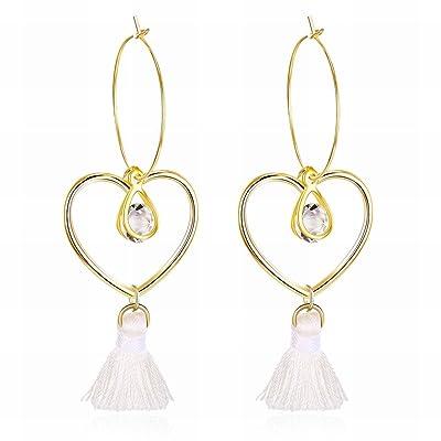 MOMO Mode Simple Amour Gouttelettes D'eau Ligne Boucles D'oreilles en Alliage de Gomme Femmes / Acier Inoxydable / Argent Clignotant / Diamants / Petit Et Exquis