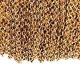 WUBOECE Rolo Chain Curb Chain Retro Necklace Bulk Cable 11 Yards 3.2mm for Jewelry Making (Antique Gold)