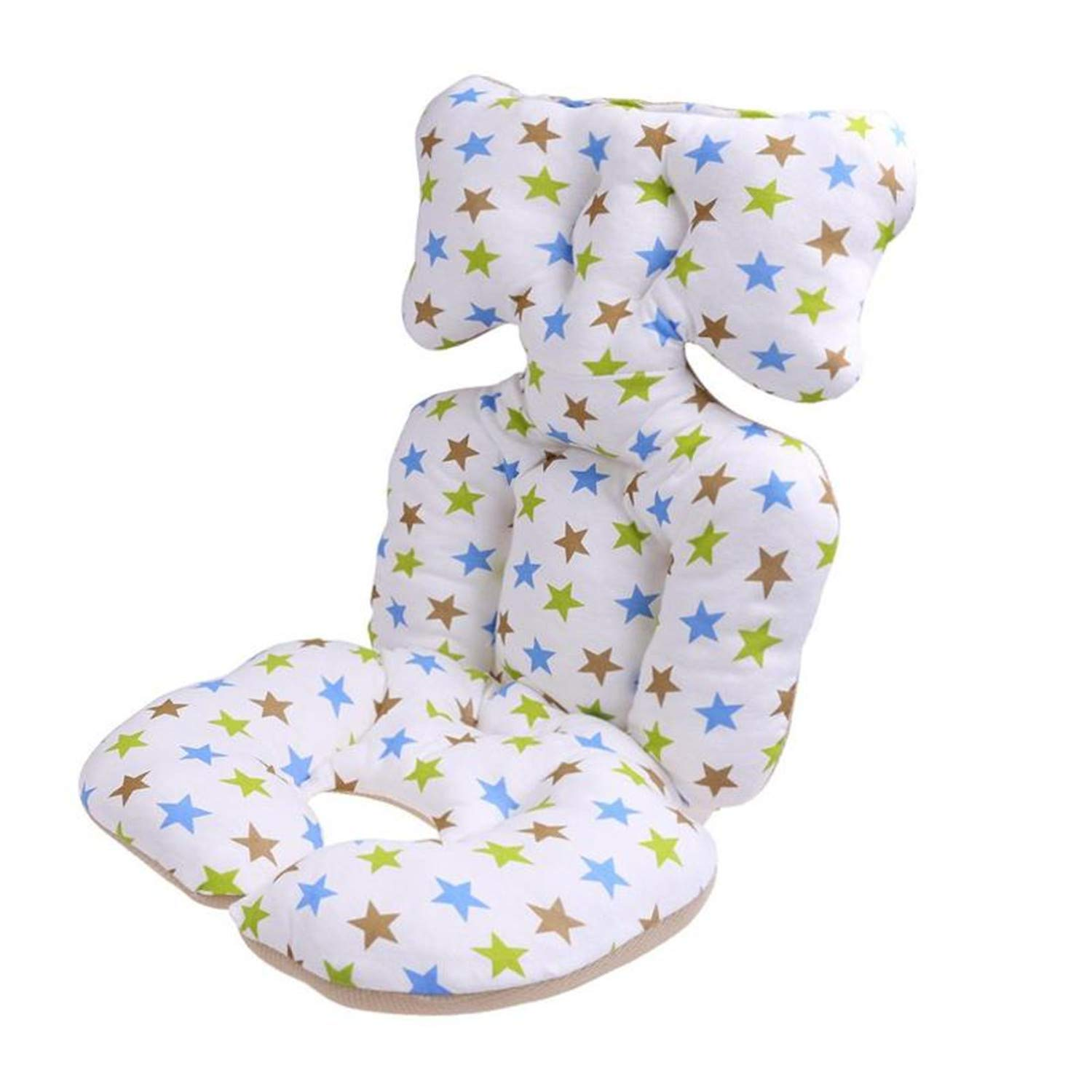 Baby Printed Stroller Pad Seat Warm Cushion Pad Mattresses Pillow Cover Child Carriage Cart Thicken Pad Chair Cushion