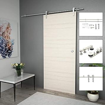 vidaXL 142826 - Sistema de puerta corredera, color plateado ...