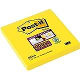 Post-it 654-S6 Haftnotiz Super Sticky Notes, 76 x 76 mm, 6 Blöcke, 90 Blatt, narzissengelb
