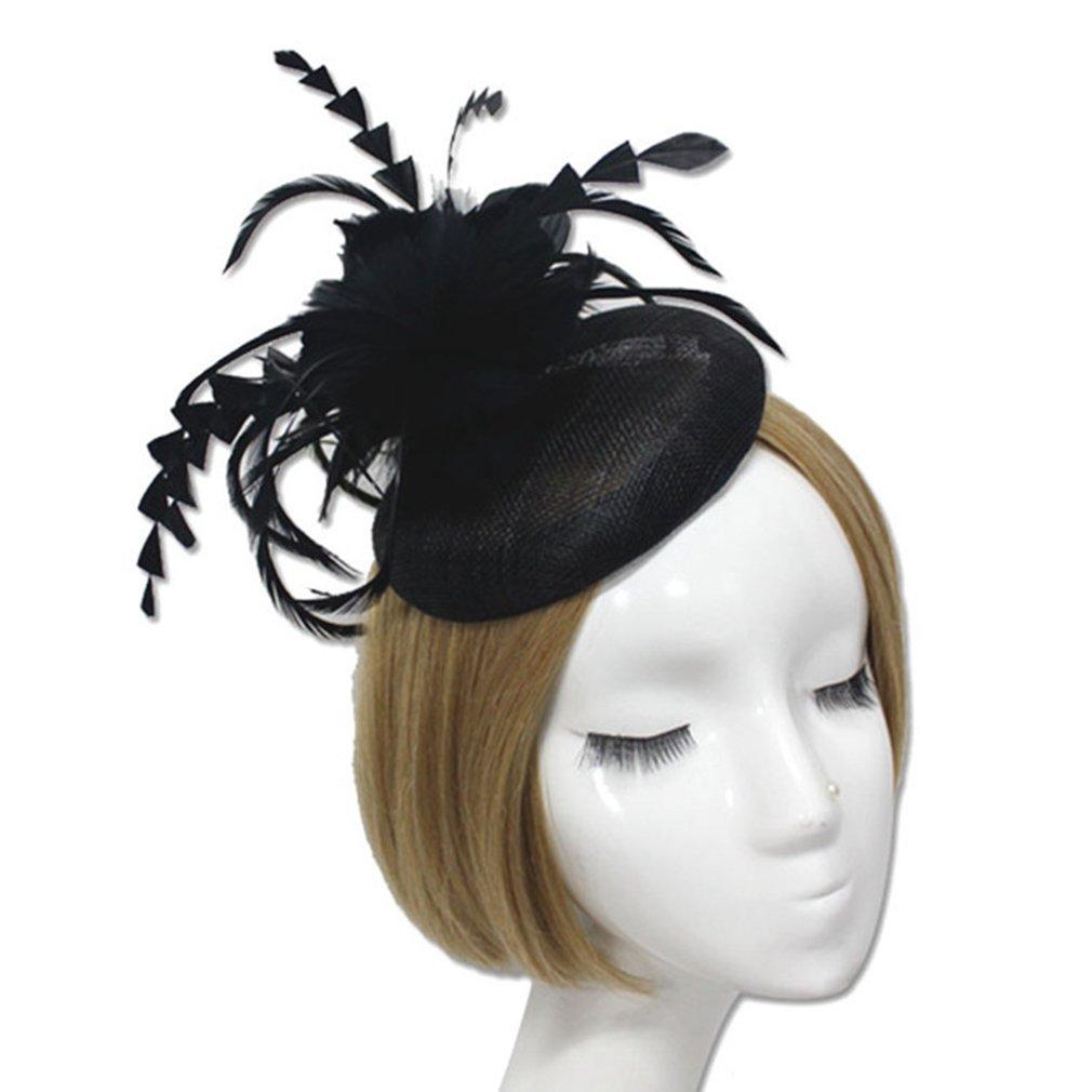 Fascinator Hats for Women,Black Veil Derby Cocktail Tea Wedding Tea Party Cap
