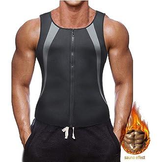 Novasoo Faja Reductora Adelgazante Hombre Neopreno Camiseta Reductora Compresion de Sauna Deportivo Chaleco