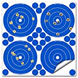 4 inch target - Adhesive 4 Inch Reactive Splatter Target - 25 Pack (100 Targets 600 Repair Patches)