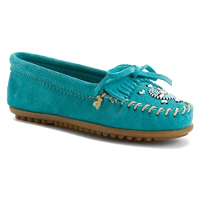 Minnetonka Women's Me to We Moccasins Moc Toe Turquoise 7.5 M US | Loafers & Slip-Ons