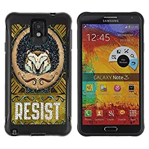 Hybrid Anti-Shock Defend Case for Samsung Galaxy Note 3 / Cool Hedgehog Resist