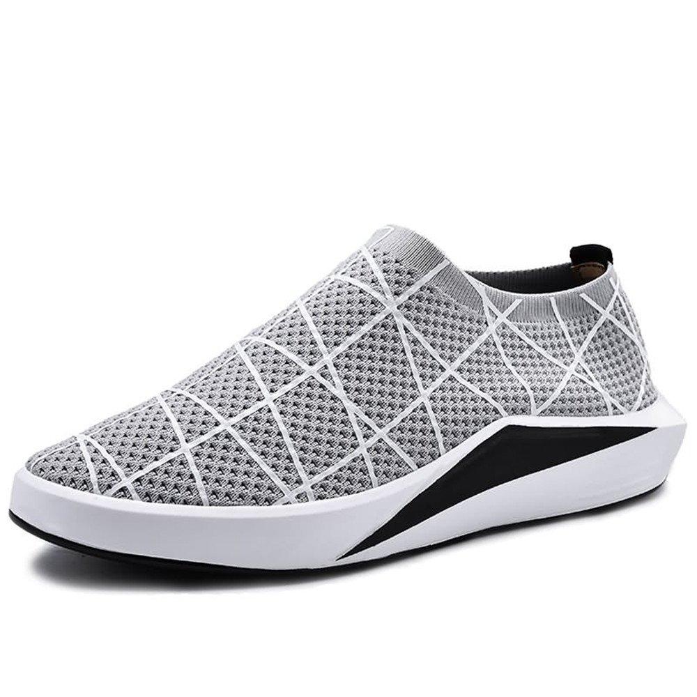 Sunny&Baby Zapatos Casuales de Color Sólido de Tacón Plano atlético de los Hombres Anti Desgaste (Color : Gris, Tamaño : 41 EU) 41 EU|Gris