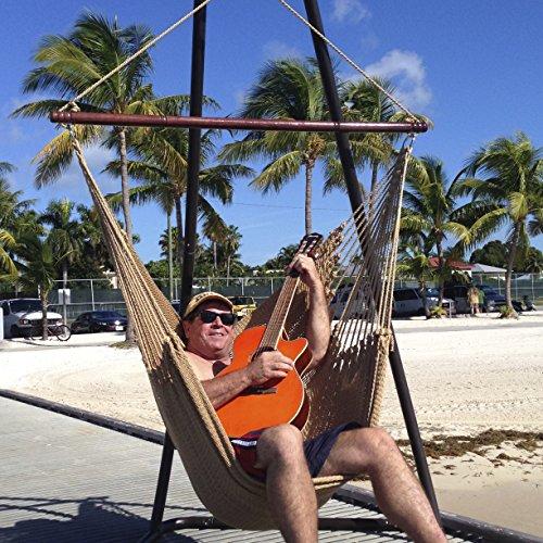 Jumbo Caribbean Hammock Chair With Footrest 55 Inch