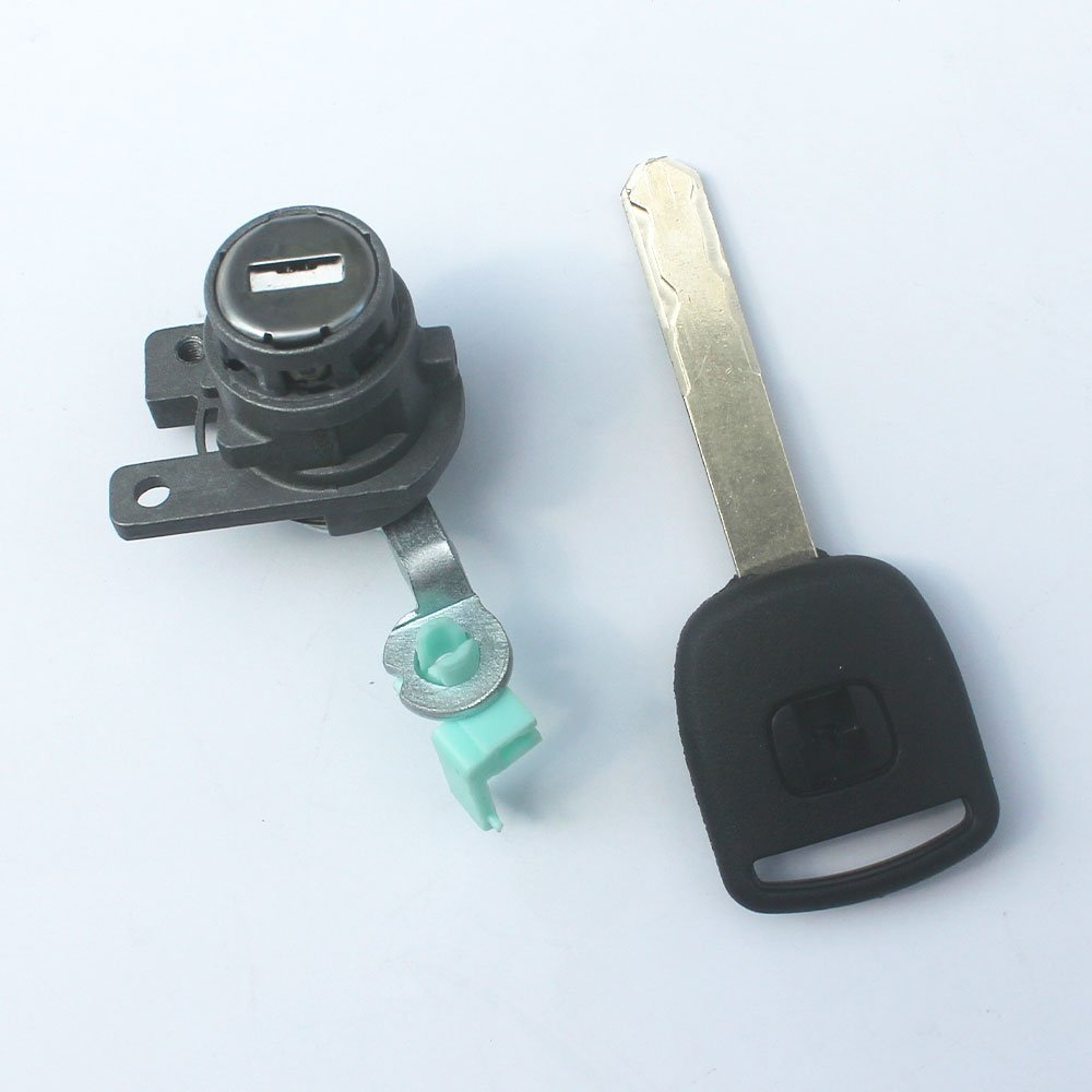KIPA Left Driver side door lock cylinder with Key For Honda Accord 2003 2004 2005 2006 2007 4-Door Replace OEM # 72181-SDA-A11