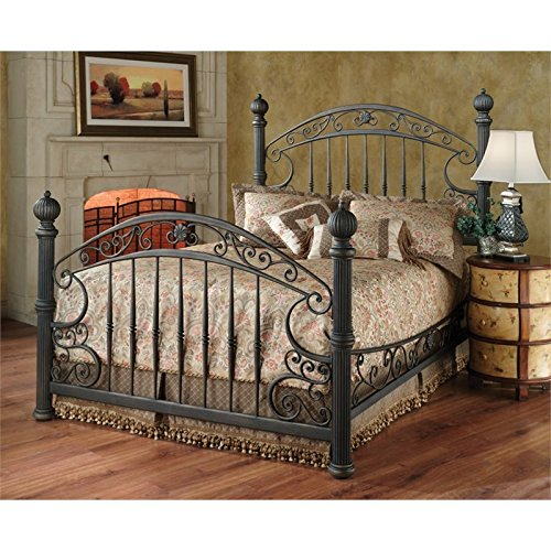 Set Metal Footboard - Hillsdale Furniture 1335BQR Chesapeake Bed Set with Rails Queen Rustic Old Brown