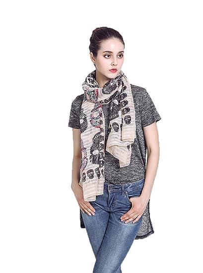 bb17ef25c197b Women's Scarf All-match Shawl Sunscreen Ladies Print Scarf Girls Long Thin  Robe, khaki at Amazon Women's Clothing store: