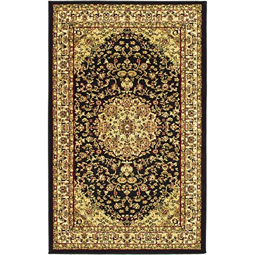 Safavieh Lyndhurst Collection LNH222A Traditional Oriental Medallion Black and Ivory Area Rug (3'3″ x 5'3″) Review