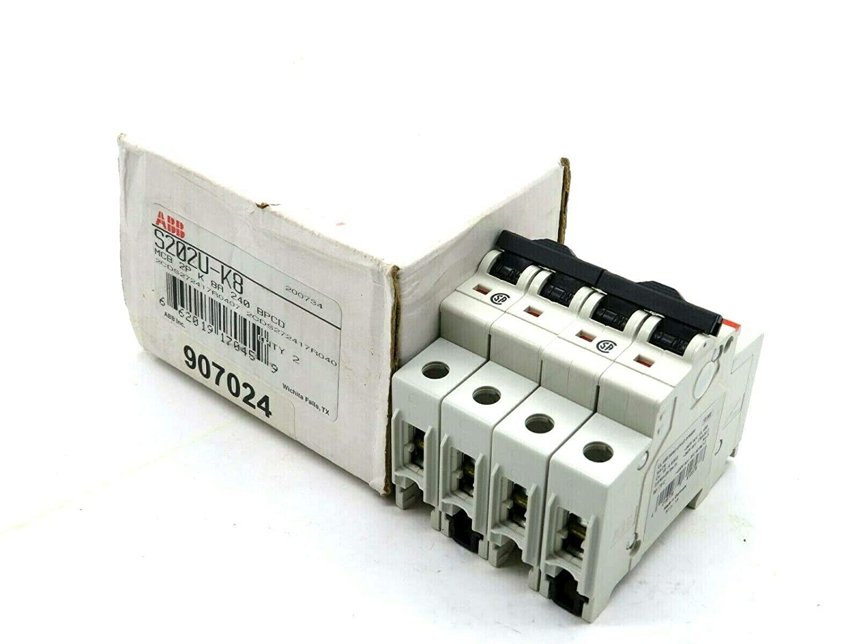 New 2 ABB S202U-K8 Circuit Breaker S202UK8