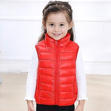 mejor venta color rápido fabricación hábil Gaozh Chaqueta Chalecos Plumas De Niño Niña Abajo Jacket ...