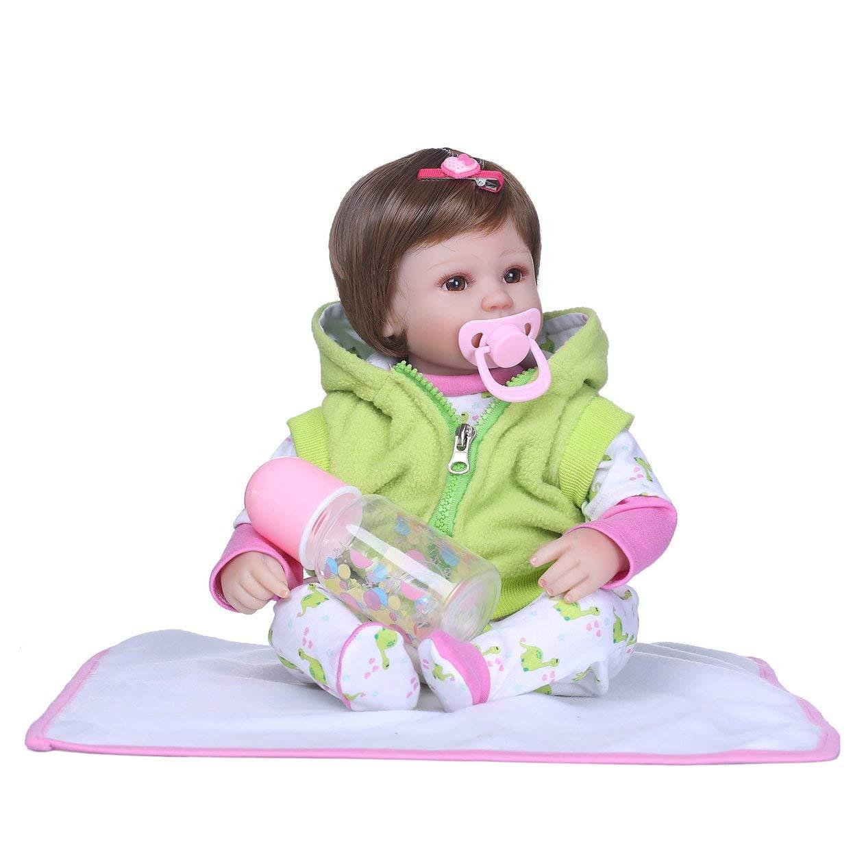 Bambola adorabile di simulazione del bambino della bambola del vinile del silicone del corpo pieno di 40cm della bambola adorabile di simulazione del bambino completamente sveglia giocattolo sveglio appena nato della bambola del bambino
