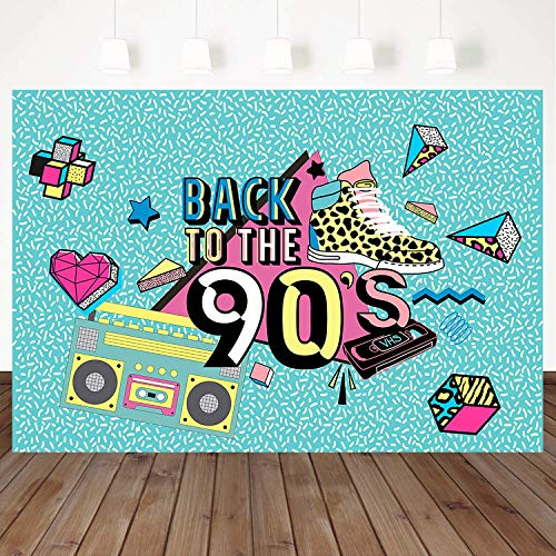 Mehofoto 90 Backdrop Graffiti Retro Radio Fashion Shoes Photography Background 7x5ft Hip Hop 90th Themed Party Banner Decoration Backdrops