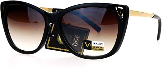 Womens Polarized Lens Sunglasses Classic Round Butterfly Cateye Frame