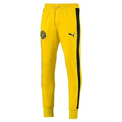 e0c2222b5063 Amazon.com   PUMA Borussia Dortmund BVB T7 Pants Men 754098 01 ...