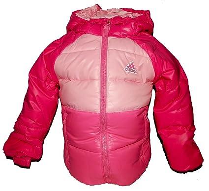 aa10b9ac3fd80 Adidas rembourré bébé fille Rose doublée à capuche Doudoune Manteau - Rose -