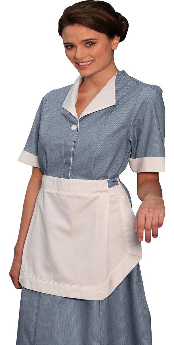 Ed Garments Junior Cord Housekeeping Dress, NAVY, C