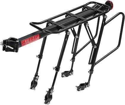 POXL Portaequipajes Bicicletas Trasero para MTB, Ajustables ...