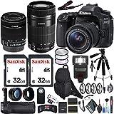 Canon EOS 80D DSLR Camera (Body Only) EF-S 55-250mm Lens Travel Kit International Model