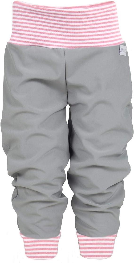Lila Niño Softshell – Pantalón para bebé niños Pantalón Otoño Invierno forrado Lluvia Pantalones Monótono gris rayas rosa Talla 50/56 – 134/140 – Fabricado en Alemania.: Amazon.es: Ropa y accesorios