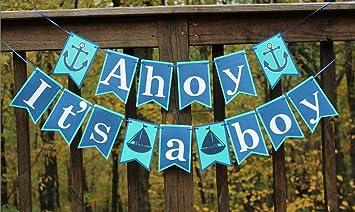 usasales itu0027s a boy banner ahoy itu0027s a boy baby